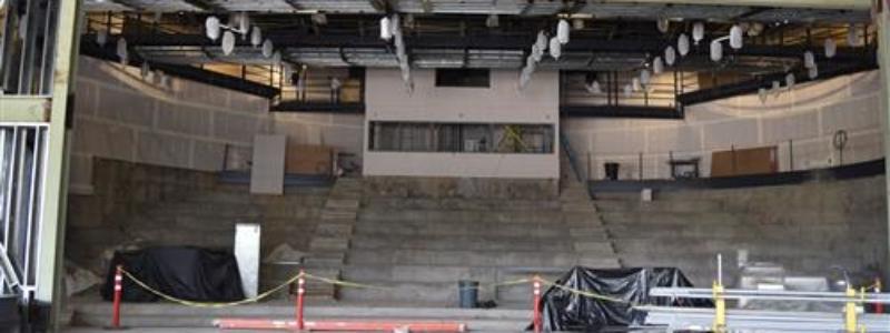 Stageandupperseatingrisersattheater